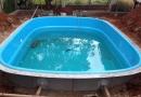 Projeto de piscina de fibra passo a passo instalação, equipamentos e limpeza.